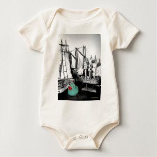 """""""Down by the Seaside"""" Rubber Duck baby wear Baby Bodysuit"""