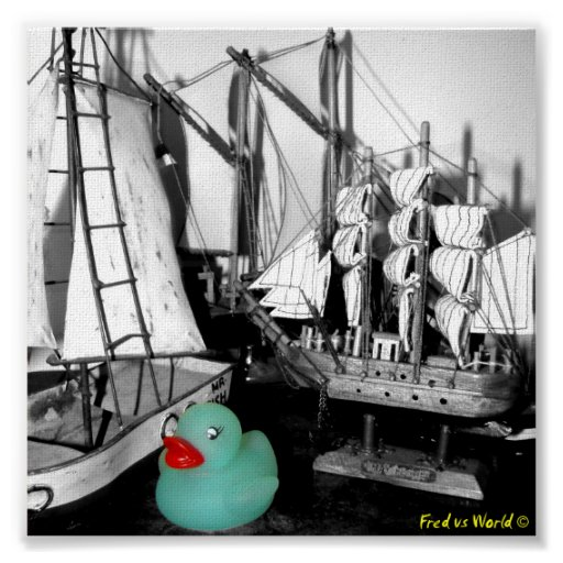 """""""Down by the Seaside"""" Rubber Duck Poster"""