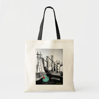 """""""Down by the Seaside"""" Rubber Duck Tote bag"""