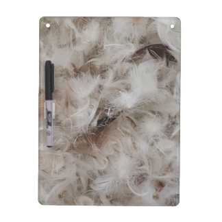 Down Comforter Feathers Photography Funny Dry Erase Board