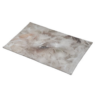 Down Comforter Feathers Photography Funny Placemat