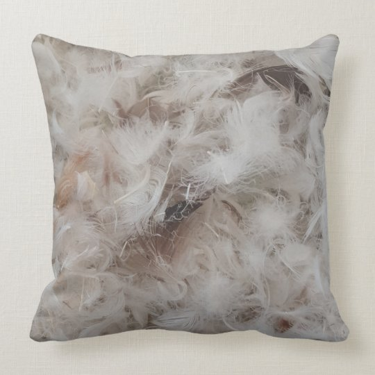 Down Comforter Feathers Photography Throw Pillow