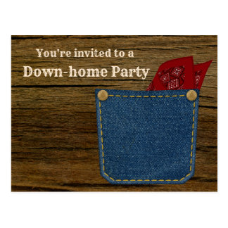 Down-home BBQ, Block, Picnic, or Cookout Party Postcard