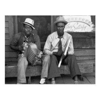 Down Home Music, 1938 Postcard