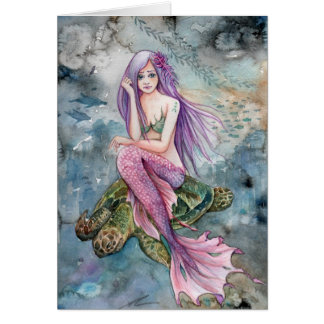 Down in Atlantis - Mermaid Card