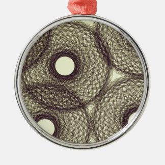 down into darkness Silver-Colored round ornament
