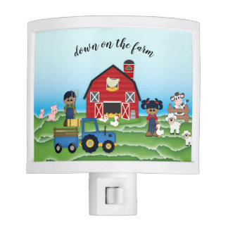 Down on the Farm African American Night Light