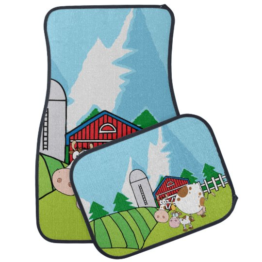 Down on the Farm Cows Car Mat