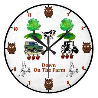 'Down On The Farm' Wall Clock