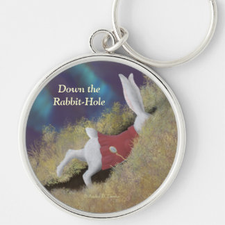 Down Rabbit-Hole White Rabbit Wonderland Keychain