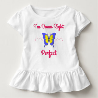 Down Right Perfect, Down Syndrome Butterfly Toddler T-shirt