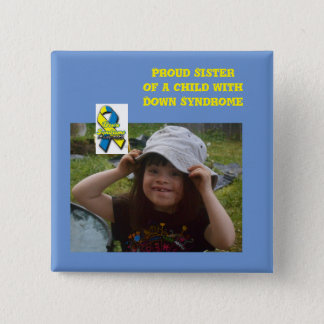 down syndrome awareness 2 inch square button