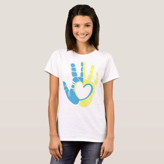 Down Syndrome Awareness Hand T-Shirt