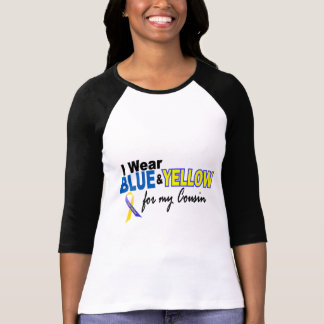 Down Syndrome I Wear Blue & Yellow For My Cousin 2 Tee Shirts