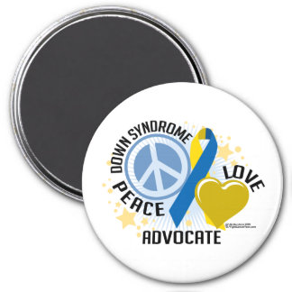 Down Syndrome Peace Love Advocate Magnet
