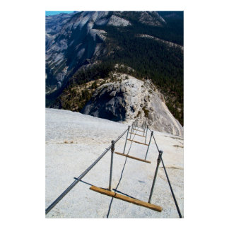 Down The Cables of Half Dome Poster