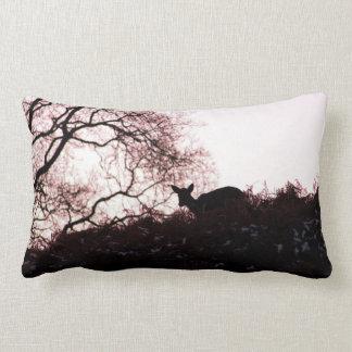 Down the hill (deer) lumbar pillow
