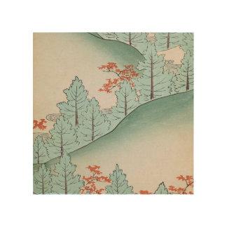 Down the Hillside Wood Print