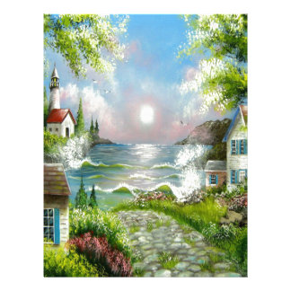 Down the Road Seascape Design Letterhead
