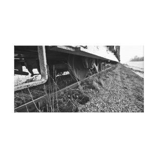 Down the tracks canvas print