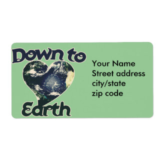 Down to Earth Day Shipping Label