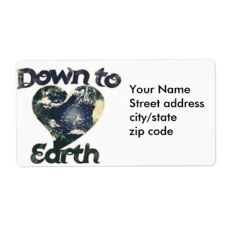 Down to Earth Shipping Label