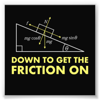 Down to Get the Friction On Physics Diagram Art Photo