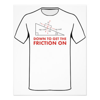 Down to Get the Friction On Physics Diagram Flyer Design