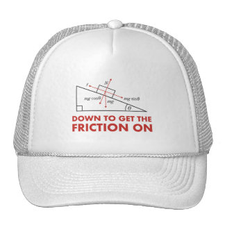 Down to Get the Friction On Physics Diagram Trucker Hat