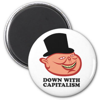 Down With Capitalism Magnet
