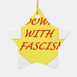 Down with Fascism Ceramic Ornament