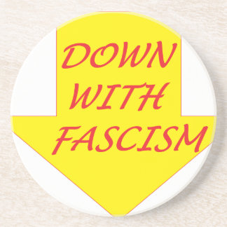 Down with Fascism Coaster