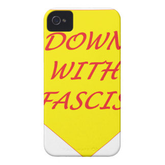 Down with Fascism iPhone 4 Cases