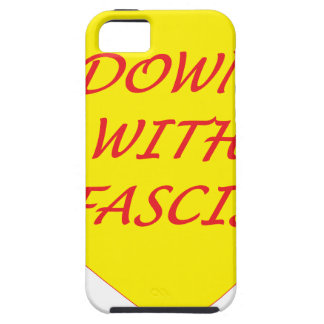 Down with Fascism iPhone 5 Case