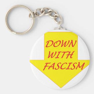 Down with Fascism Keychain