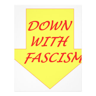 Down with Fascism Letterhead Template
