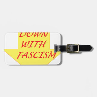 Down with Fascism Luggage Tag
