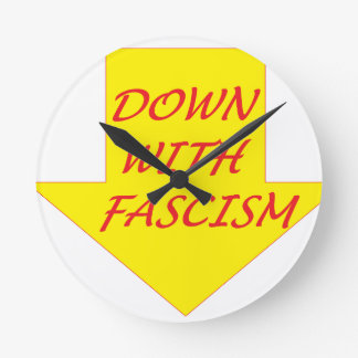 Down with Fascism Wall Clock