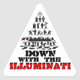 Down with the Illuminati Stickers