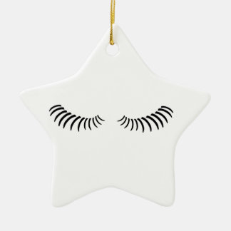 Downcast Eye Lashes Ceramic Ornament