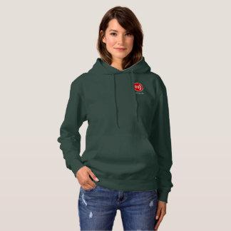 Downcast Logo and Downcast.fm Women's Hoodie