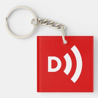 Downcast Logo Red Keychain