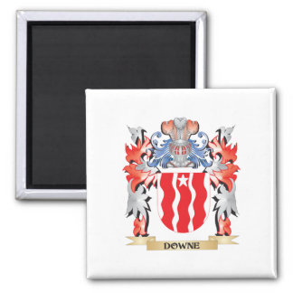 Downe Coat of Arms - Family Crest Square Magnet