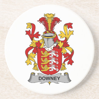 Downey Family Crest Coaster