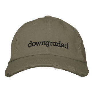 downgraded embroidered hat