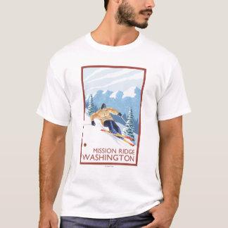 Downhhill Snow Skier - Mission Ridge, Washington T-Shirt