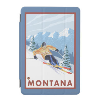Downhhill Snow Skier - Montana iPad Mini Cover