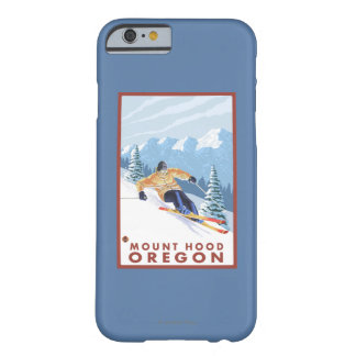 Downhhill Snow Skier - Mount Hood, Oregon Barely There iPhone 6 Case