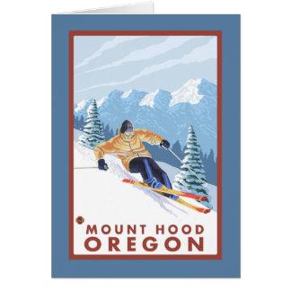 Downhhill Snow Skier - Mount Hood, Oregon Card