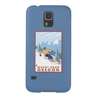 Downhhill Snow Skier - Mount Hood, Oregon Galaxy S5 Case